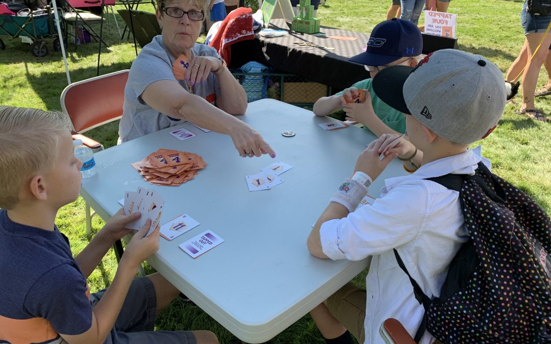 Tapped Four is fun to play anywhere!! Even at the Boise Corgi Fest.